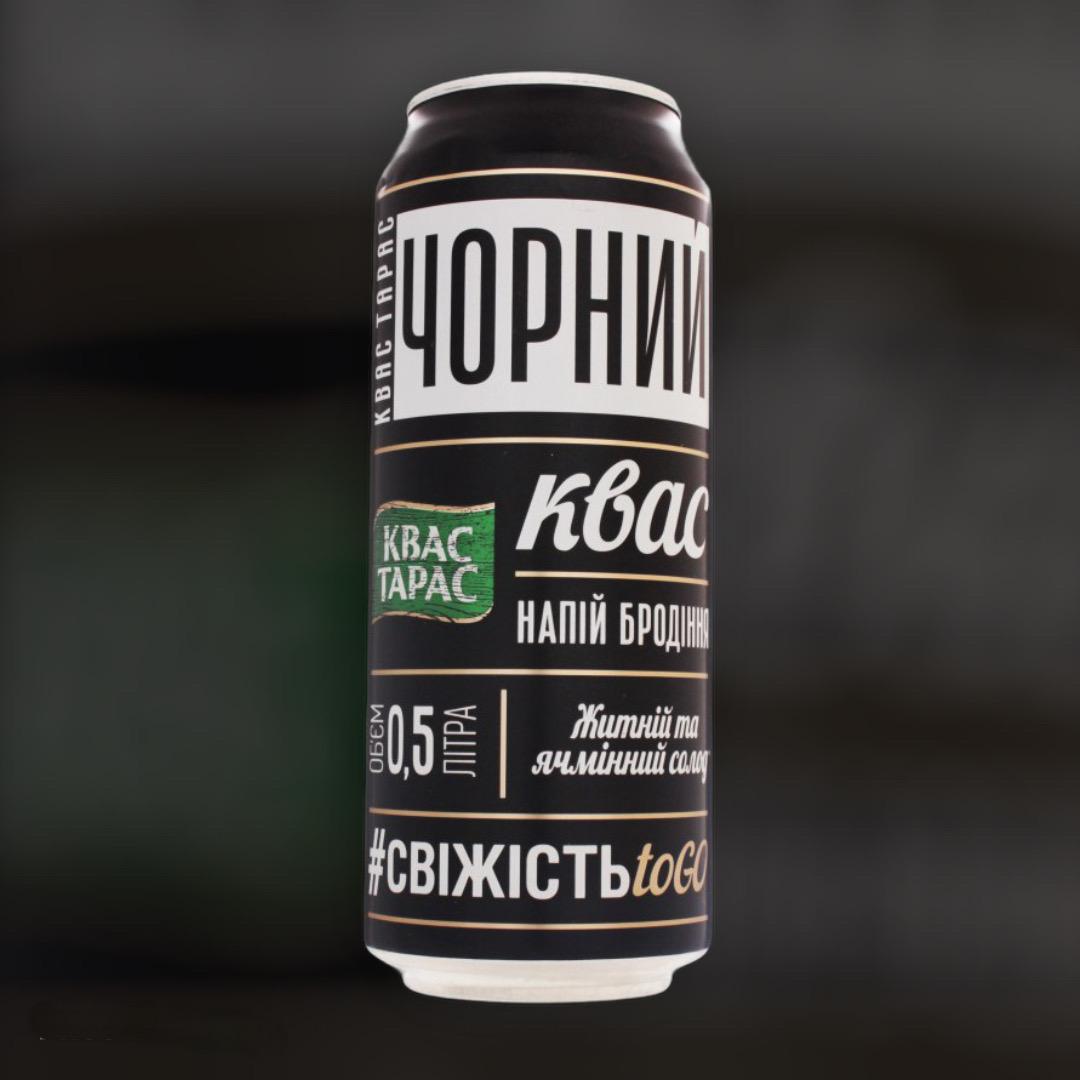 Доставка напитка квас Тарас черный ж/б ночью в Киеве
