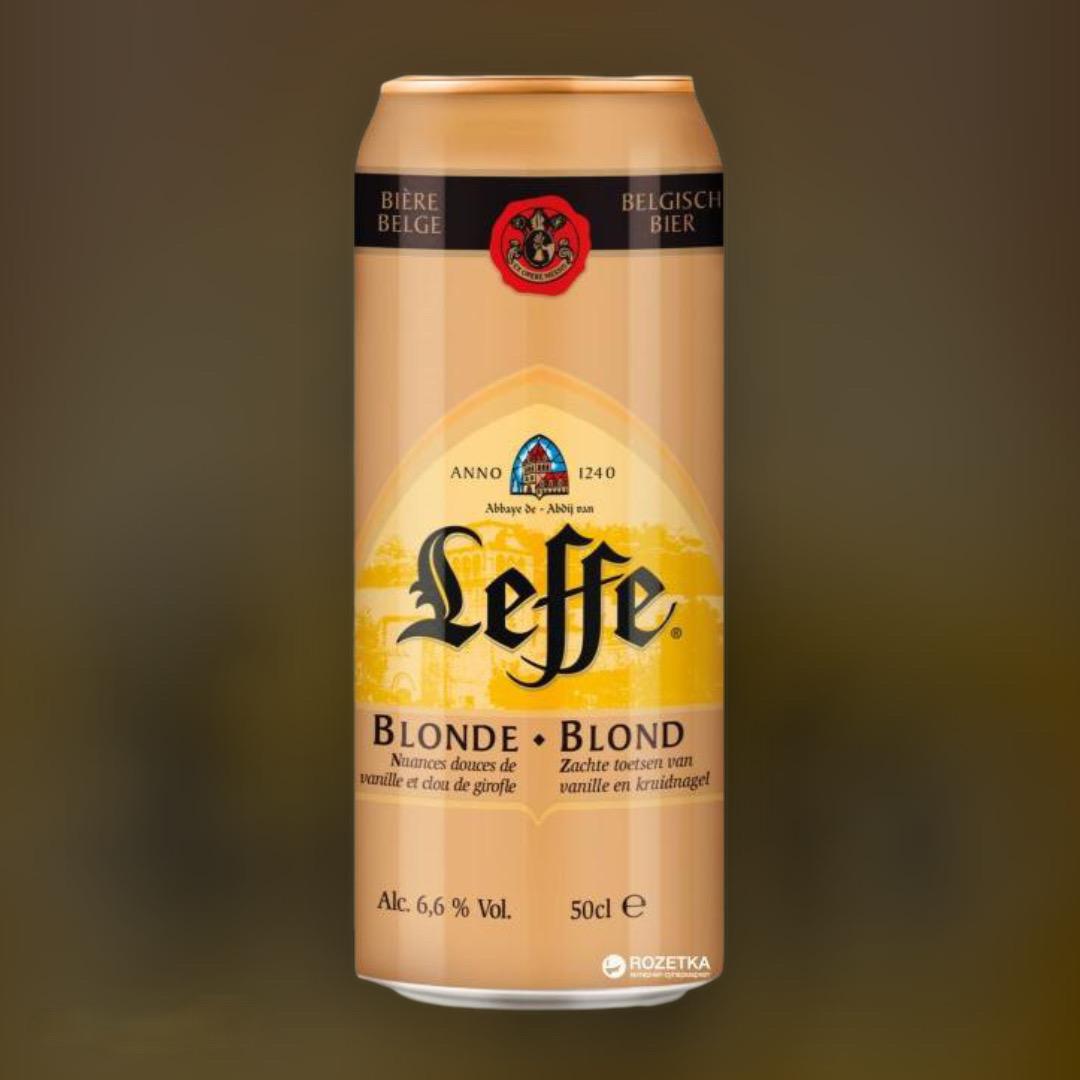 Доставка пива Leffe Blonde ночью по Киеву