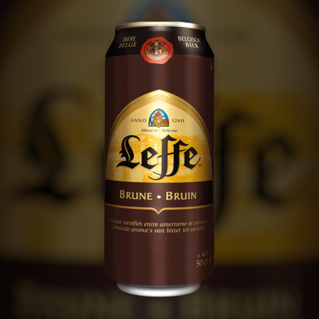 Доставка пива Leffe Brune ночью по Киеву