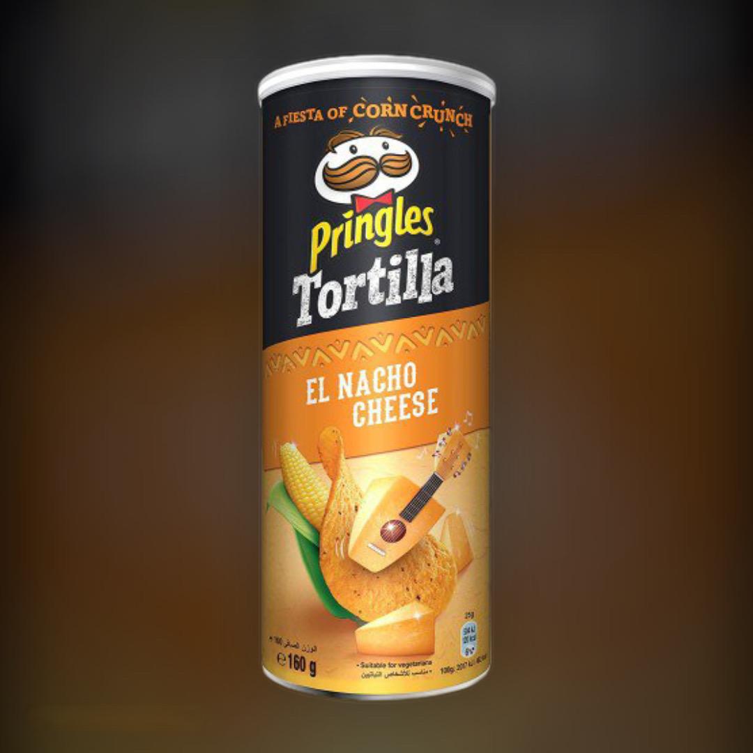 Чипсы кукурузные Pringles Tortilla El Nacho Cheese со вкусом сыра начо 160 г