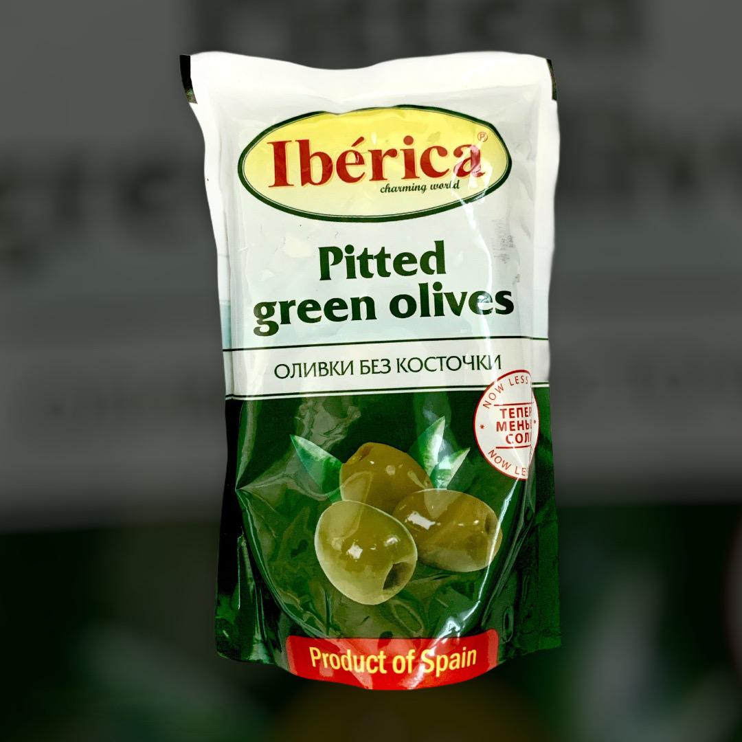 Оливки зеленые без косточки Iberica 170 г