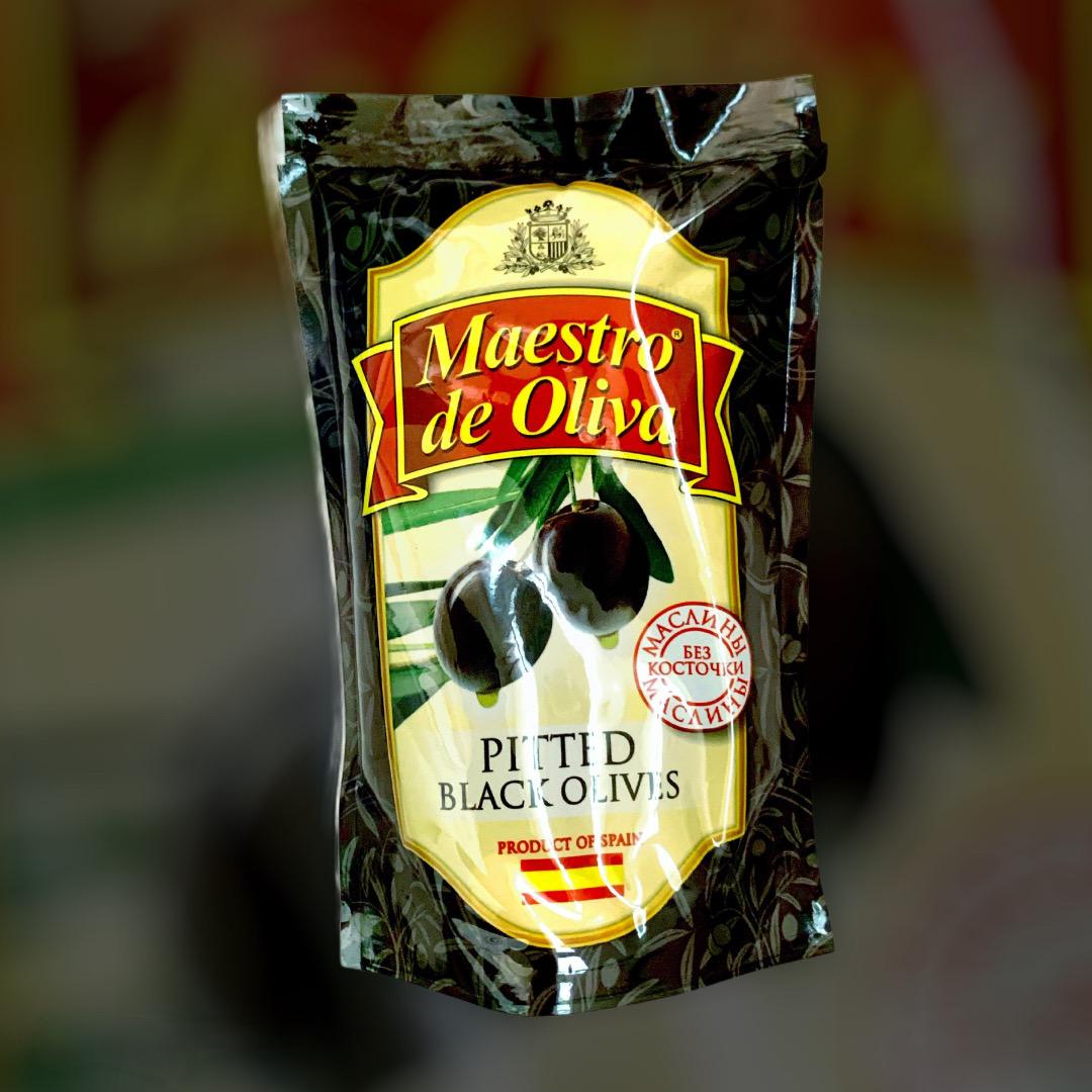 Маслины черные без косточки Maestro de Oliva 170 г