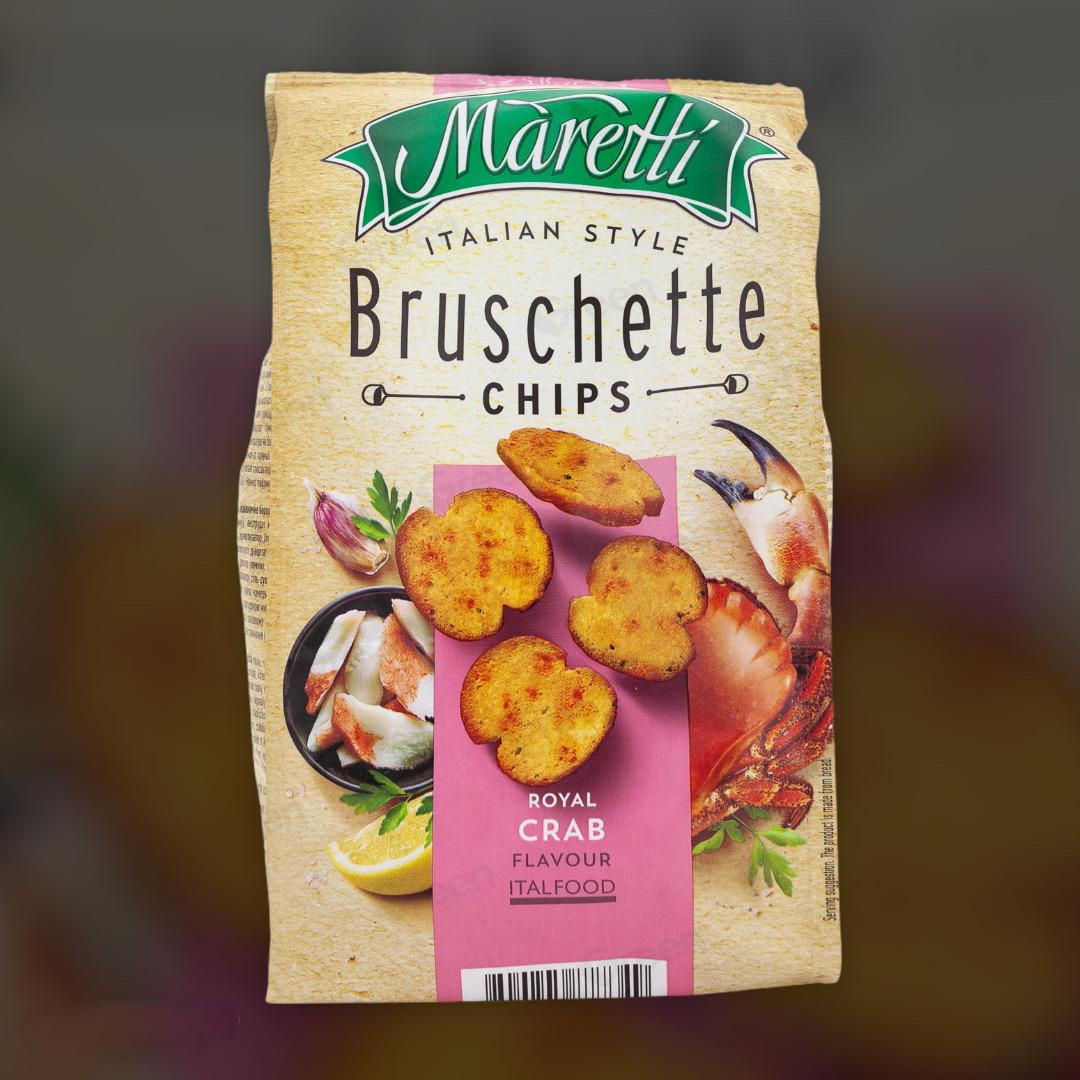 Печеные хлебные брускеты Maretti Bruschette скрабом 70 г
