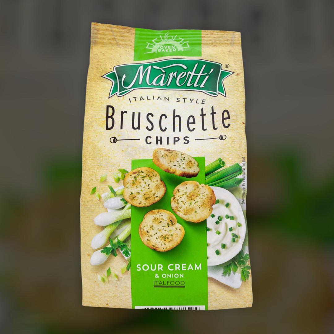 Печеные хлебные брускеты Maretti Bruschette с сметаной и зеленью 70 г