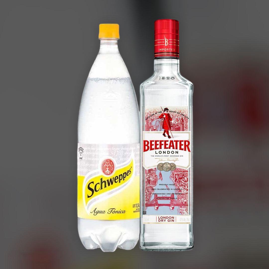 Набор Джин Beefeater + Schweppes Tonic 0,5 л+1 л