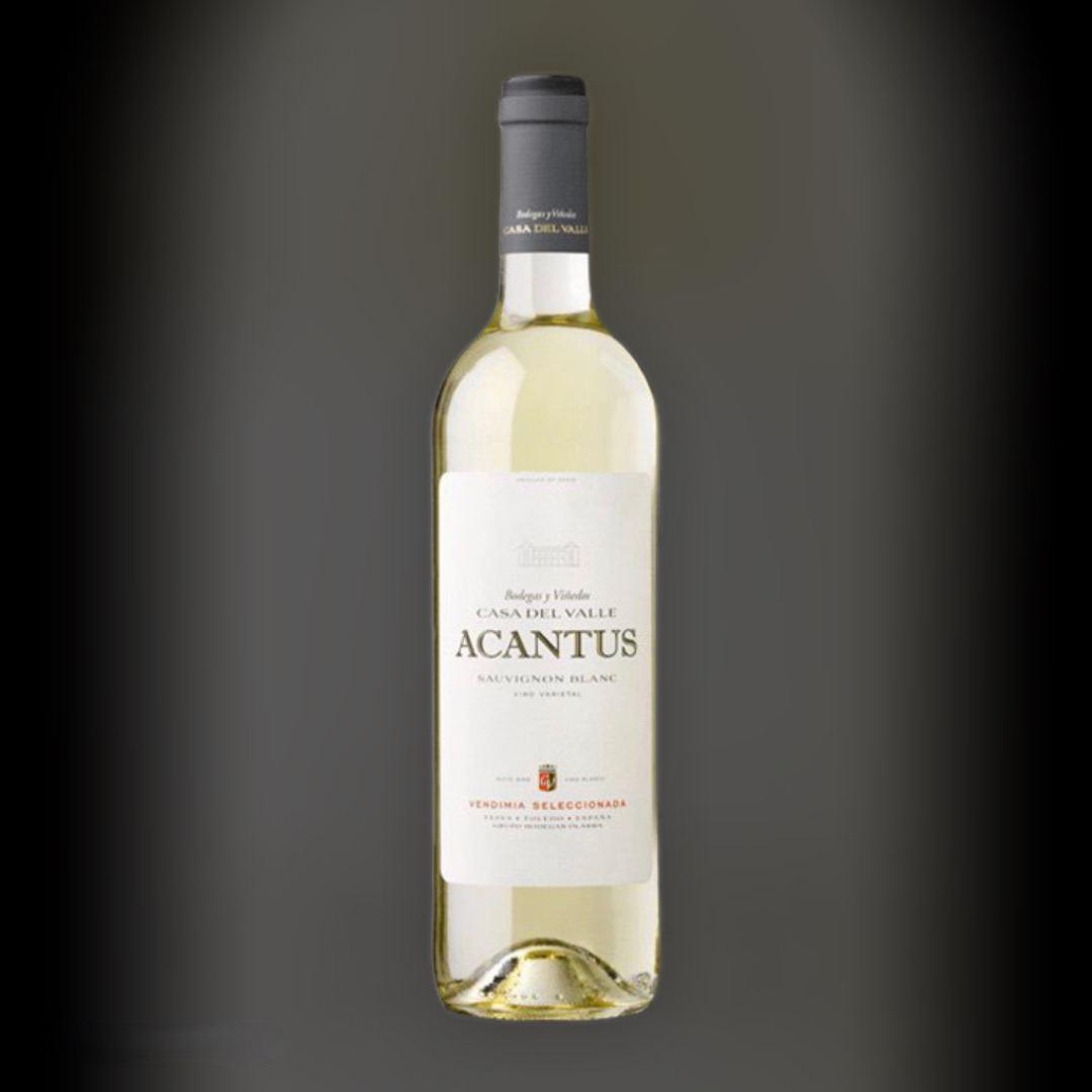 Вино Acantus Sauvignon Blanc белое сухое 11,5% Испания 0,75 л