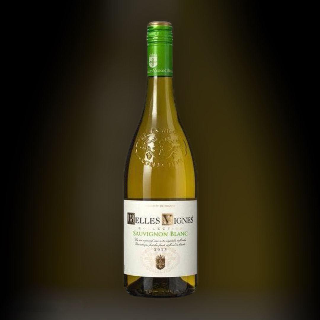 Доставка вина Belles Vignes Colombard-Savignon Blanc ночью по Киеву