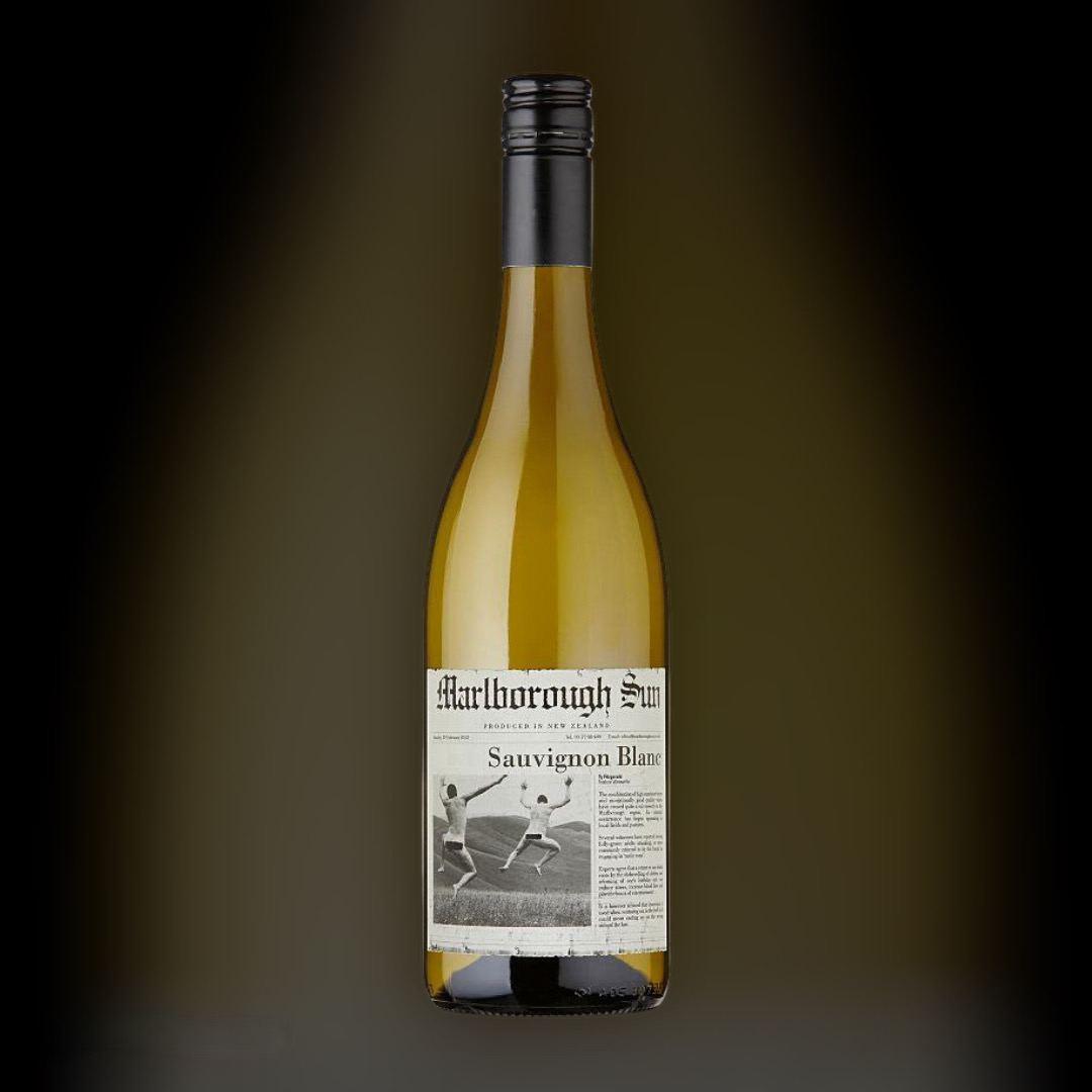 Вино Marlborough Sun Sauvignon Blanc 2019 белое сухое 13% Новая Зеландия 0,75 л