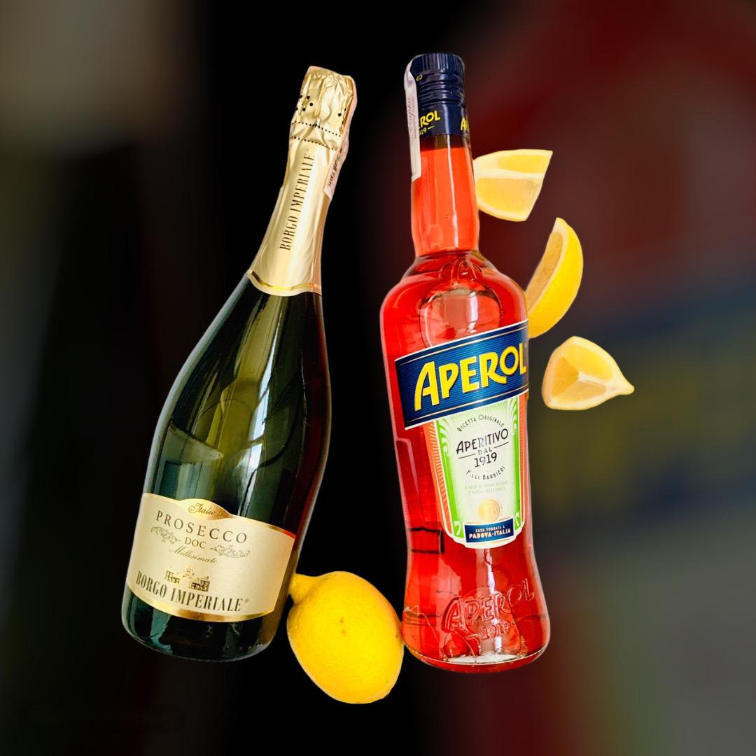 Доставка вина и ликера Aperol + Prosecco круглосуточно по Киеву