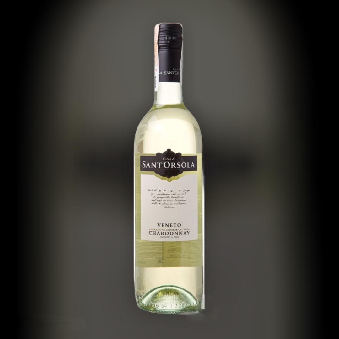 Вино SantOrsola Chardonnay белое сухое 12% Италия 0,75 л