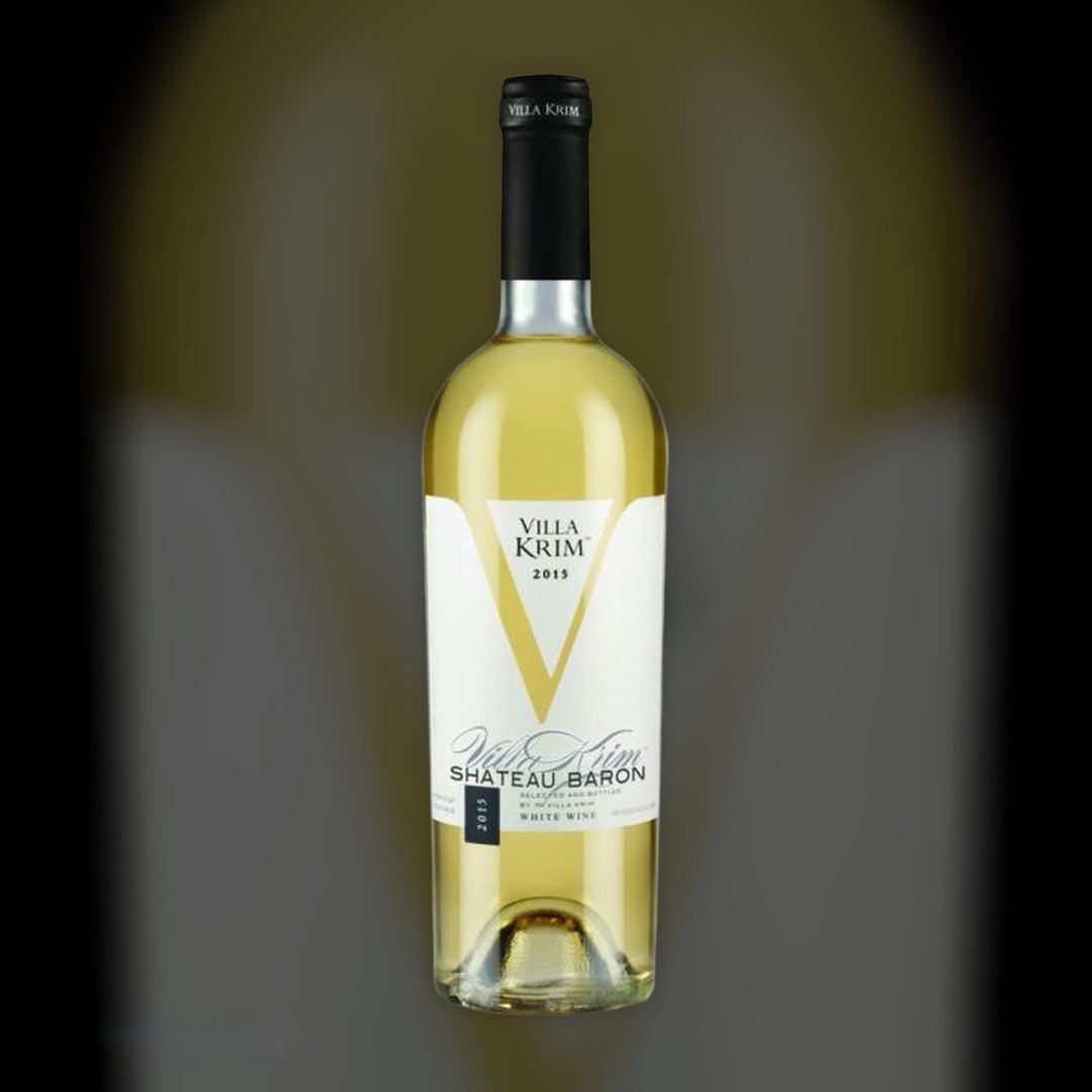 Вино Villa Krim Шато Барон белое полусладкое 13% Украина 0,75 л