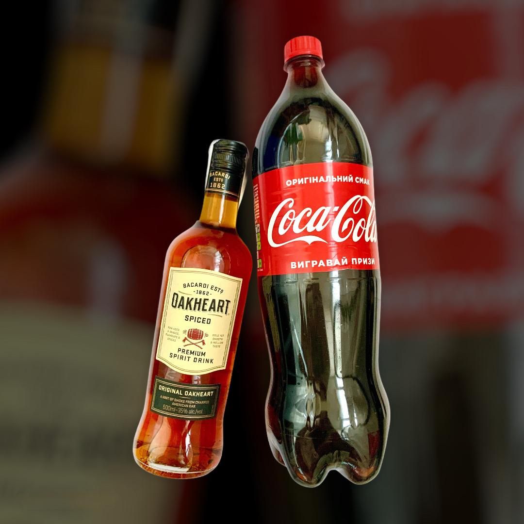 Набор Ром OakHeart + Coca-Cola  0,5л+1,5л
