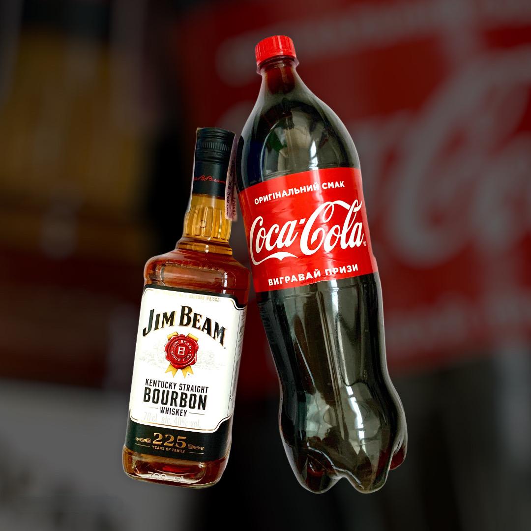 Набор Виски Jim Beam + Coca-Cola 0,7л+1,5л